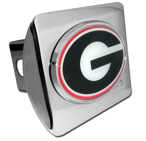 UGA Georgia Bulldogs Chrome Oval G Hitch Cover