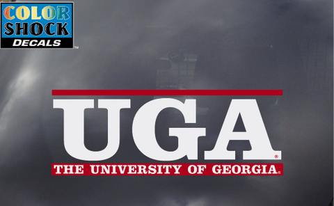 UGA Georgia Bulldogs UGA White Letter Bar Decal
