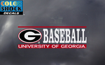 UGA Georgia Bulldogs Baseball Decal