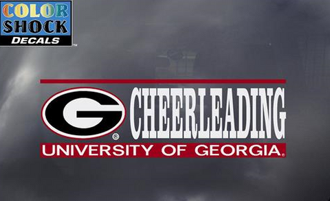 UGA Georgia Bulldogs Cheerleading Decal