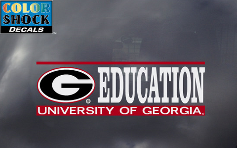 UGA Georgia Bulldogs Education Decal