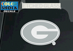 UGA Georgia Bulldogs Oval G Etched Glass Decal