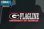 UGA Georgia Bulldogs Flagline Decal
