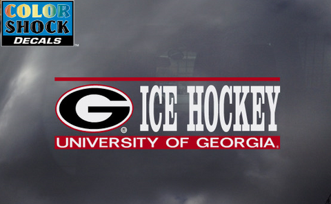 UGA Georgia Bulldogs Ice Hockey Decal