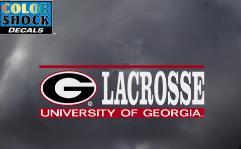 UGA Georgia Bulldogs Lacrosse Decal