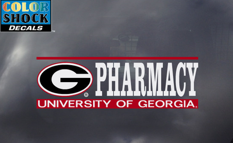 UGA Georgia Bulldogs Pharmacy Decal