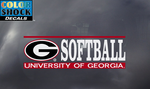 UGA Georgia Bulldogs Softball Decal