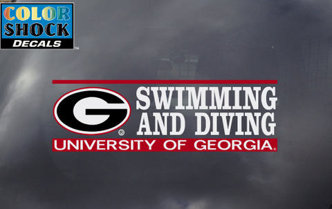 UGA Georgia Bulldogs Swimming and Diving Decal