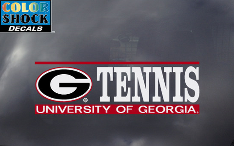 UGA Georgia Bulldogs Tennis Decal
