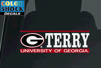 UGA Georgia Bulldogs Terry College of Business Decal