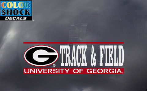 UGA Georgia Bulldogs Track and Field Decal