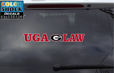 UGA Georgia Bulldogs UGA Law Decal