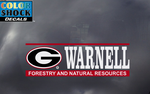 UGA Georgia Bulldogs Warnell School of Forestry and Natural Resources Decal
