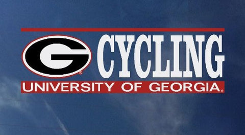 UGA Georgia Bulldogs Cycling Decal