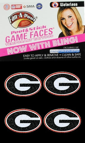 UGA Waterless Bling Oval G Tattoo