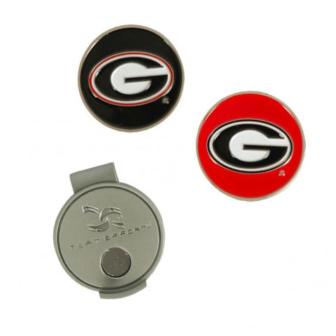 UGA Golf Hat Clip & Ball Markers