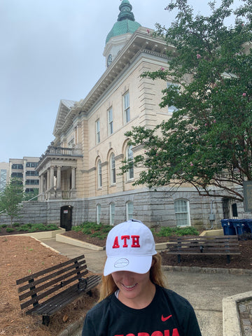 Athens, Georgia ATH Cap - White w/ Red Letters