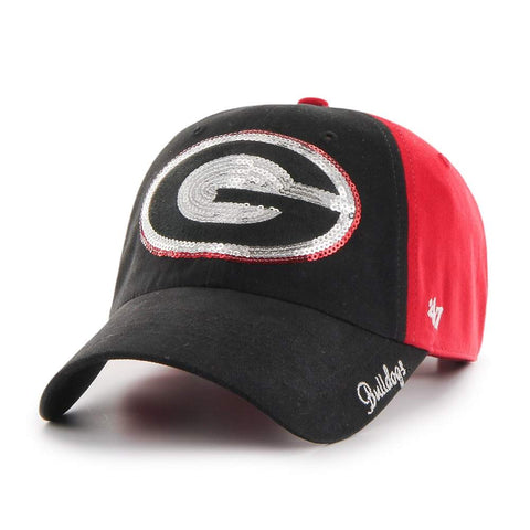 UGA 47 Brand Women's Bling Oval G Black and Red Cap