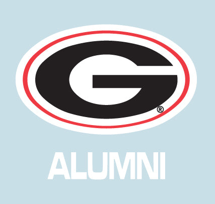 UGA Georgia Bulldogs Oval G & ALUMNI Decal