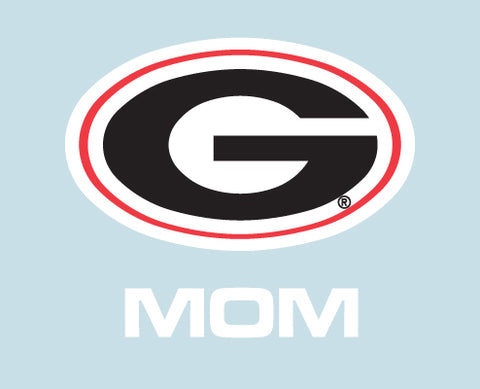 UGA Georgia Bulldogs Oval G & MOM Decal
