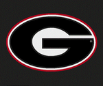 UGA Georgia Bulldogs Colorshock Small Oval G Decal Sticker