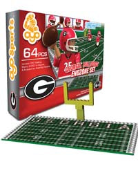 UGA Georgia Bulldogs Toy 64 Piece Endzone Set by Oyo Sports