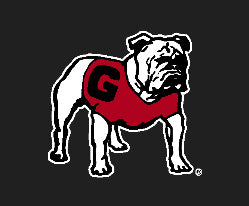 UGA Georgia Bulldogs Standing Dog Decal Sticker