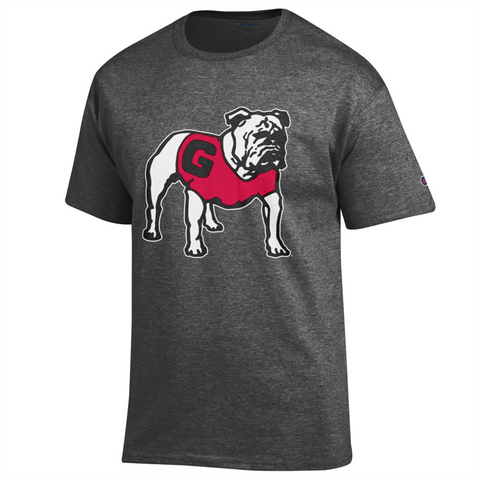 UGA Standing Bulldog Champion T-Shirt - Charcoal