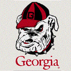 UGA Georgia Bulldogs Old Bulldog Head Static Cling Decal