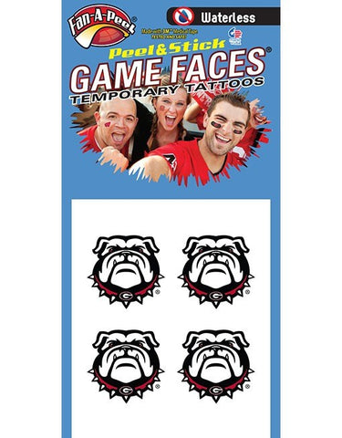 UGA Waterless New Bulldog Head Tattoo