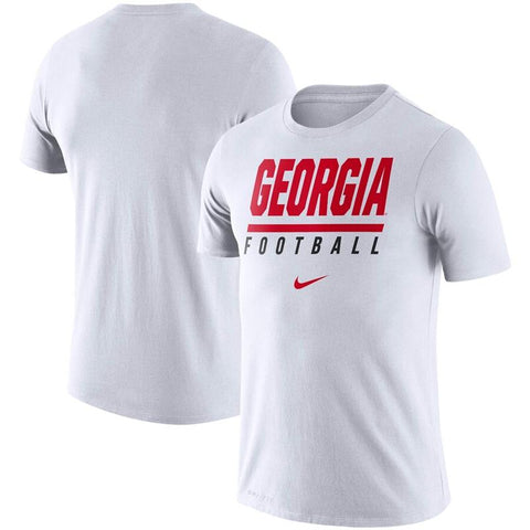 UGA Georgia Football Nike Dri-FIT Cotton T-Shirt - White