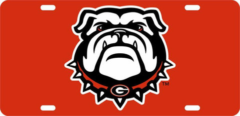 UGA Georgia Bulldogs Car Tag - Red