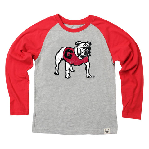 UGA Georgia Bulldogs Wes & Willy Youth Raglan Long Sleeve T-Shirt
