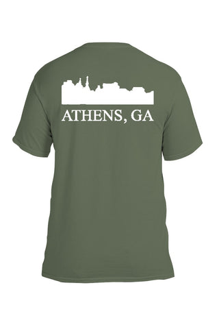 Athens, Ga Comfort Colors Skyline T-Shirt - Sage
