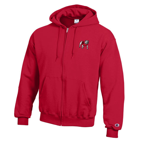 Georgia Champion Full-zip Hooded sweatshirt - Red (LIMITED SIZES)