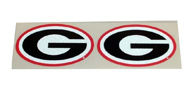 UGA Georgia Bulldogs Mini Oval G Decals