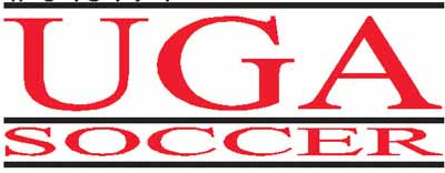 UGA Georgia Bulldogs Bar Soccer Sticker