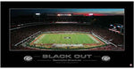 "UGA Blackout 2007 Sanford Stadium Panoramic 18"" x 36"" Poster Print"