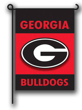 UGA Georgia Bulldogs Oval G Garden Flag