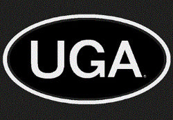 UGA Georgia Bulldogs Oval UGA Decal