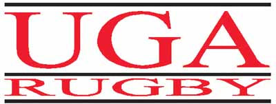 UGA Georgia Bulldogs Bar Rugby Sticker