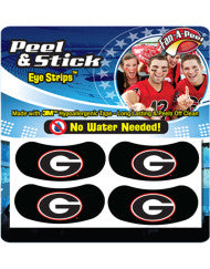 UGA Eye Black Stick-On Oval G Face Decals