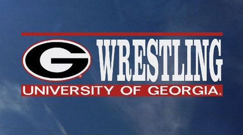 UGA Georgia Bulldogs Wrestling Decal