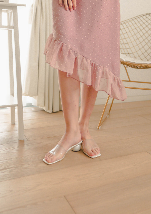 Seiche Asymmetric Skirt (Dusty Pink)