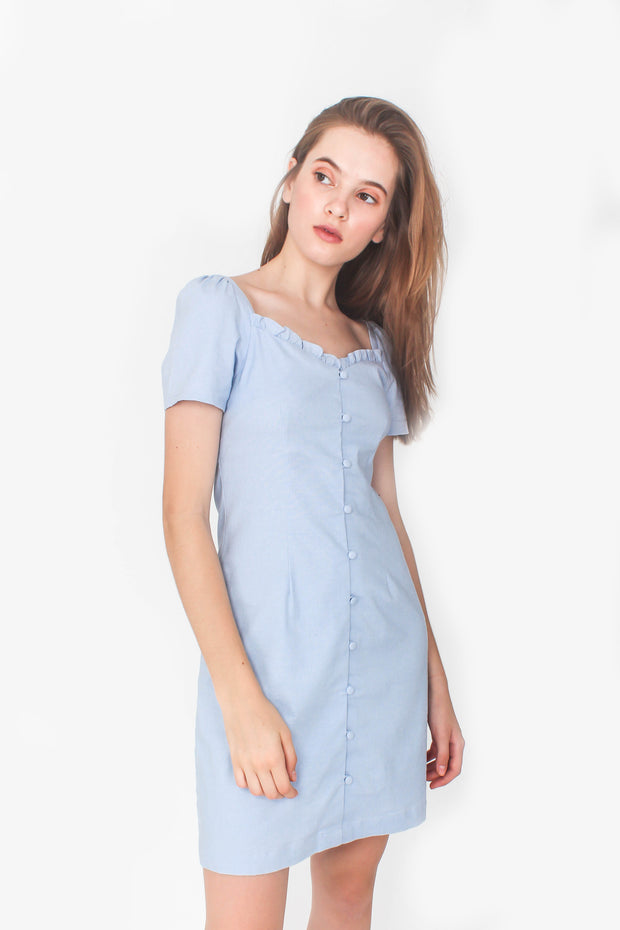 Cadence Mini Dress (Sky Blue)