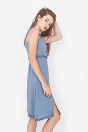 Chrysalis Midi Dress (Dusty Blue)