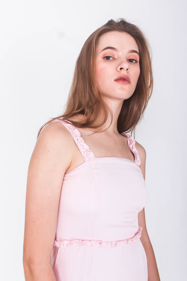 Chrysalis Midi Dress (Daisy Pink)