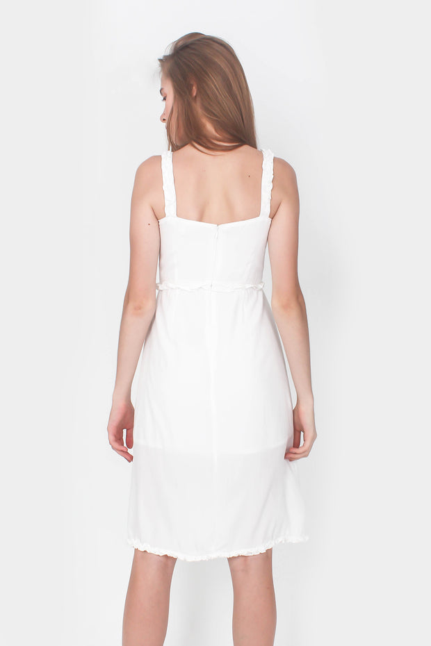 Chrysalis Midi Dress (White)