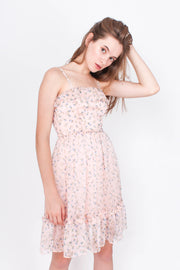Transcend Mini Dress (Daisy Pink)