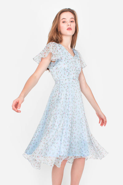 Voyage Midi Dress (Sky Blue)